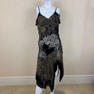 Sue Wong Nocturne Black Midi Dress